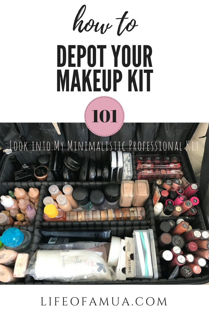 How To Depot/Condense Your Makeup Kit | A Look into My Professional Kit